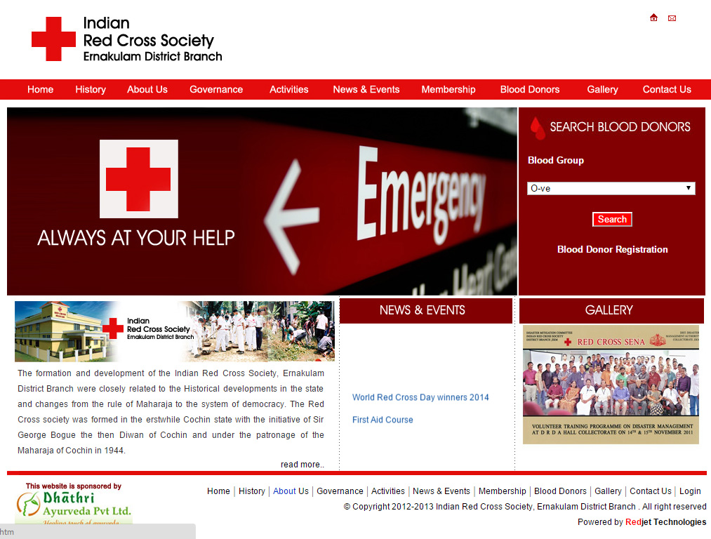 Indian Red Cross Society, Ernakulam District Branch